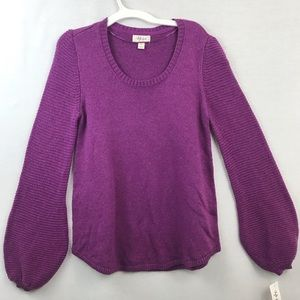 Style & Co purple scoop neck long sleeve  pullover
